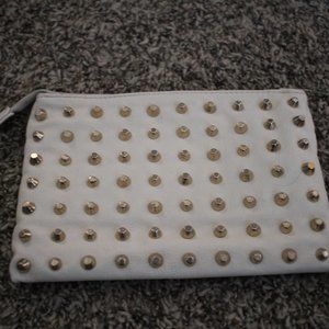5/25$Gold Studded Clutch Bag